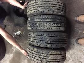 Vauxhall 4x100 Steel Rims & Tyres 195/55/15