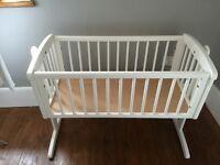 Baby Swinging Crib-White