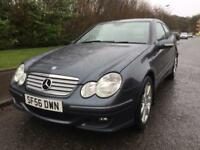 MERCEDES BENZ C180 SE , AUTOMATIC , 1800 3DOOR , FULL LEATHER , NEW MOT ,