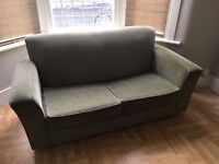 2-seater sofabed, green corduroy - must go this week