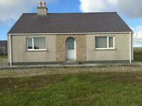 2 bed fully furnished bungalow. High Borve Isle of Lewis