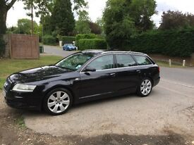 2005 Audi A6 Avant 2.4 Petrol S Line 5dr Automatic; black with grey leather interior.