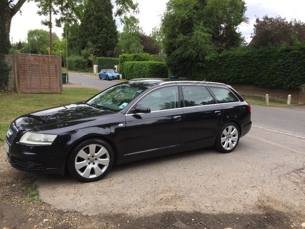 2005 audi a6 avant 2 4 petrol s line 5dr automatic black. Black Bedroom Furniture Sets. Home Design Ideas
