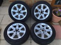 "BMW 1 SERIES F20 F21 4 x 16"" STYLE 377 GENUINE ALLOY WHEELS"
