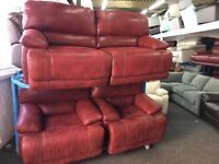 New/Ex Display LazyBoy Guvnor 3 Seater +2 x 1 Electirc Seater Recliner Chairs Sofas