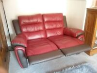 Two and three seater leather sofas for sale