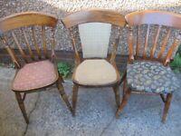 Various Hardwood Pub or Restaurant Chairs, £10 each
