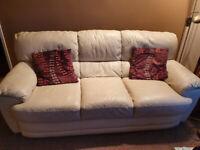 Cream leather suite 3 x 2 seater