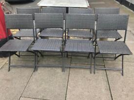 8 x Rattan Folding Chairs