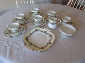 Vintage Crown Stafforshire Tea Set