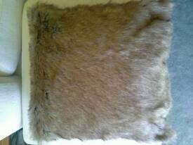 Large faux fur cushions NEW X 2