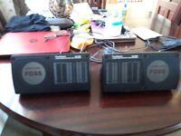 goodmans gls250 vintage retro car shelf rear pod loud speakers box classic