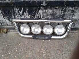 big chrome truck light bar used