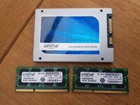 CRUCIAL 16GB DDR3 RAM AND 512GB SSD.....