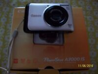 CANON A3000 DIGITAL CAMERA - BOXED WITH ACCESSORIES (MAKE AN OFFER)