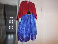 Disney Store Anna (Frozen) Costume Dress & Cape Size 11-12yrs Good Condition Original Clothes Hanger
