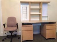 Office desk including filing drawers and chair for Sale- Good Condition.