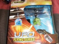 REMOTE CONTROL FLYING UFO (New & Boxed)
