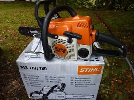 "STIHL MS170 30CC 12"" CHAINSAW - USED"