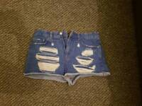 Hot pant denim shorts