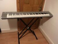 Yamaha NP 30 - YNP 25 (Portable Grand) Silver 76 key, electric keyboard / digital piano with stand