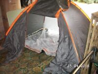 Tent, 4 x man dome, double skin.