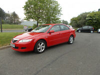 MAZDA 6 TS HATCHBACK 5 DOOR 1.8 STUNNING RED NEW SHAPE 2003 BARGAIN ONLY £695 *LOOK* PX/DELIVERY
