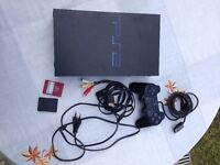 SONY PlayStation 2 PS2 Console Bundle 2x8MB Memory Cards