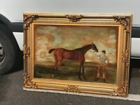 Large painting of a Victorian racehorse