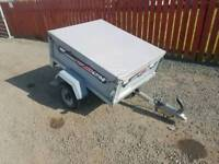 Erde 102 car tipping trailer with water proof cover spare wheel
