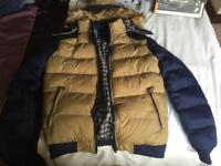 Navy/Tan New quilted coat