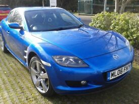 Mazda RX8 Winning Blue 1.3 coupe 4 door excellent condition