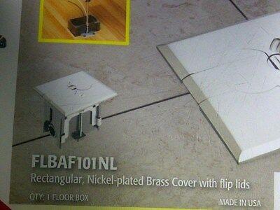 Arlington - FLBAF101NL - Adjustable Floor Boxes Covers - Nickel Plated Brass