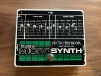 EHX Electro Harmonix Bass Micro Synth Guitar Pedal