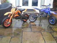 2 kids dirt pit petrol motorcycles NO OFFERS £100