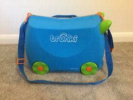 Trunki Blue Terrance Trunki Kids Ride On Suitcase