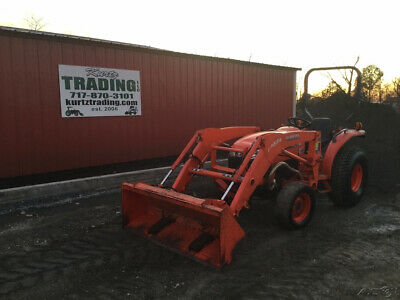 2013 Kubota L3200 4x4 Compact Tractor W Loader Only 1000 Hours