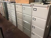 Grey 4 Draw Filing Cabinets