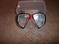 NEW Beaver Professional diving mask. Focus dive/snorkeling mask NEW with Box
