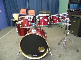 """Mapex M-Birch drum kit 8"""" 10"""" 12"""" 13"""" 16"""" 22"""" with gig bags"""