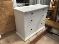 White Solid 4 draw drawer unit