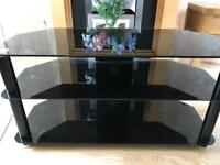 Black TV Stand L100cm H 50cm W 45cm