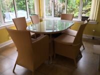 As New Rattan Dining Table & 6 chairs - bargain!!!-