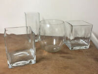ASSORTED NEW OR MINT GLASSWARE - FROM £5 - CASH & COLLECTION ONLY