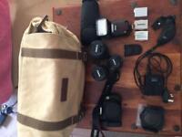 Canon EOS 600D, 3 Lenses + extras