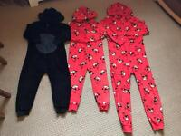 3x chilrens next onsies camping age 4,5,10