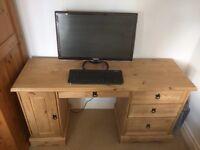 Pine Wood Mexican Corona Computer Desk