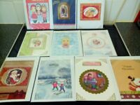 BUNDLE OF 20 HAND CRAFTED C5 CHRISTMAS CARDS FOR CHILDREN IN CELLO BAGS RESELL