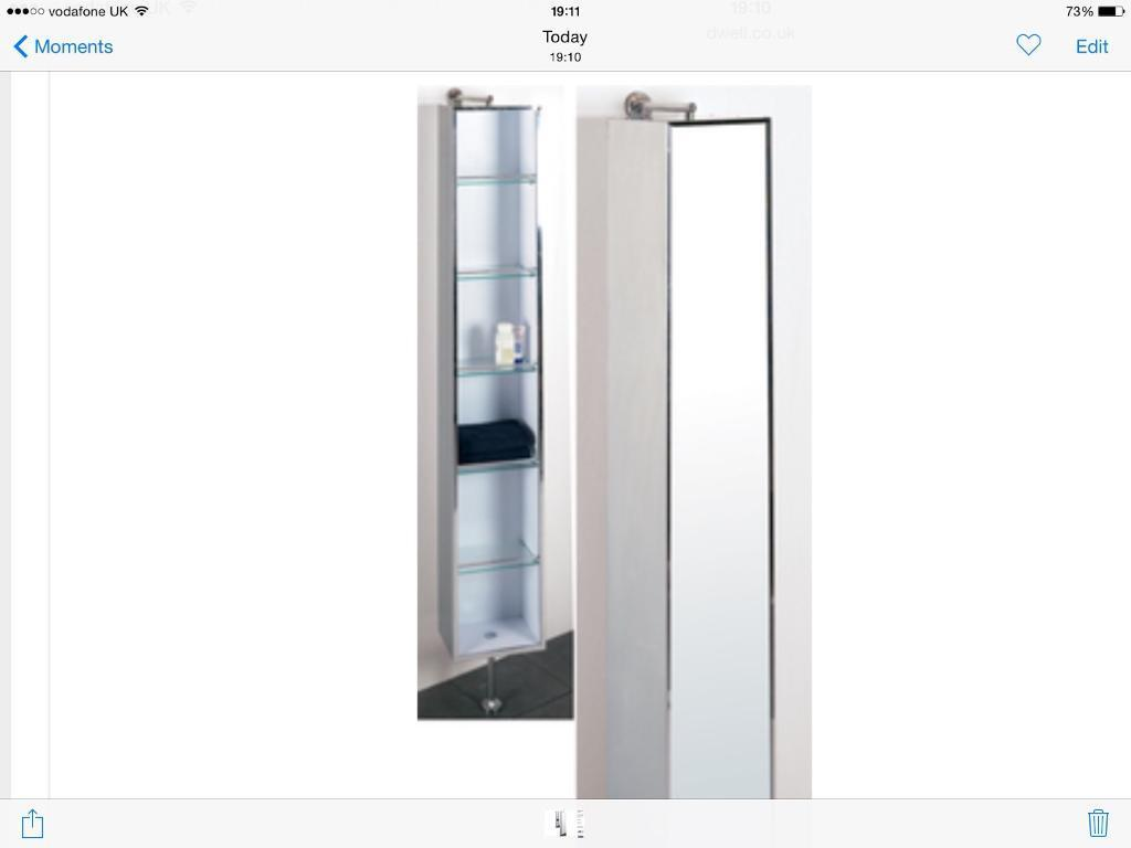 Bathroom Cabinet - Dwell rotating mirrored cabinet. Stainless steel ...