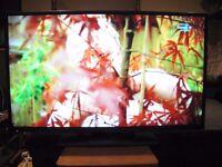 "TV FLAT SCREEN LED HITACHI 42"" FULL HD FREEVIEW HD USB"